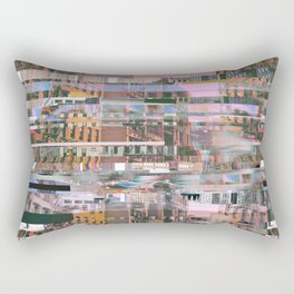 Urban Glitch Rectangular Pillow