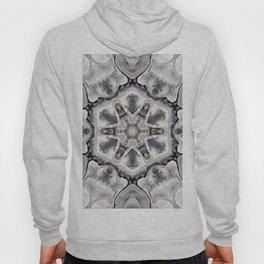 Black and White Neutral Kaleidoscope Art Print Hoody
