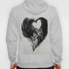 Feathers and Hearts Psalm 91:4 Hoody