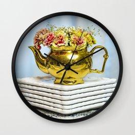 Blooming Brew Wall Clock