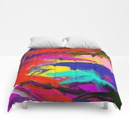 Rainbow Abstract II Comforters