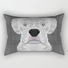 White Boxer Rectangular Pillow
