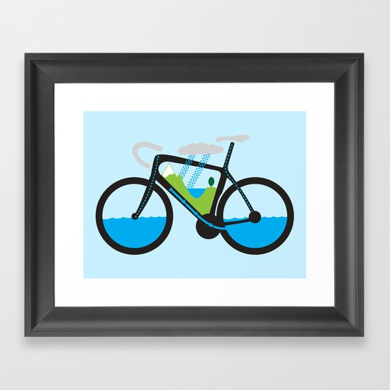 The Water Cycle Framed Art Print