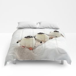 Gentoo Penguins on a Fishing Trip Comforters