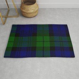 Scottish Campbell Tartan Pattern-Black Watch #2 Rug