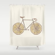 Velocitrus (color version) Shower Curtain