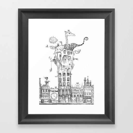 Odd Neighborhood Framed Art Print