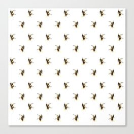 Bumblebee pattern Canvas Print