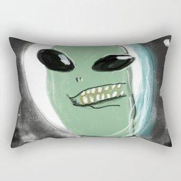 Space Alien Rectangular Pillow