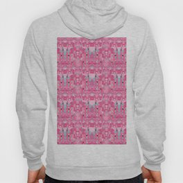 Pink and Blue Abstract Unicorn Psychedelic Print Hoody