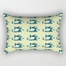 Vintage Machine Sewing Needle Pattern Rectangular Pillow