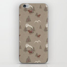 Moose and Mountains Pattern iPhone Skin
