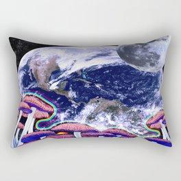 Space Mushroom Rectangular Pillow