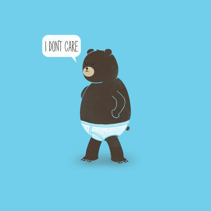 A Bear In Underwear That Just Don't Care Comforters