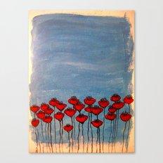 Sea of poppies. Canvas Print