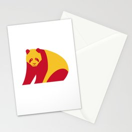 Giant panda - China national symbol, flag colors Stationery Cards