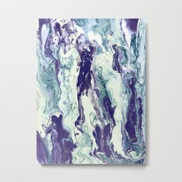 Mint Galaxy Metal Print