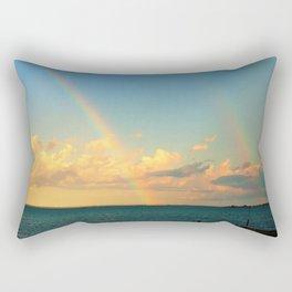 Double Rainbow Rectangular Pillow