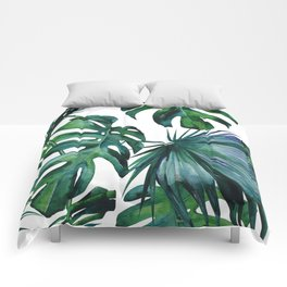 Tropical Palm Leaves Classic II Comforters