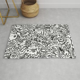 Somewhere Together black and white Rug