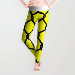 Chain-Link Fence (from Design Machine archives) Leggings