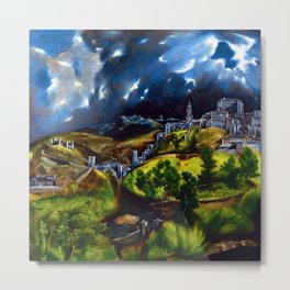 El Greco View of Toledo Metal Print
