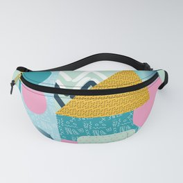 Collage Fun Retro Popping Art Remix Pattern Fanny Pack