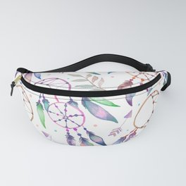 Watercolor Boho Dream Catcher Pattern Fanny Pack