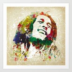 Reggae Music Man Art Print