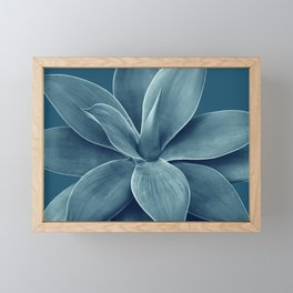 Blue Agave Romance #1 #tropical #decor #art #society6 Framed Mini Art Print