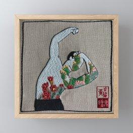 Dancing with Cacti Framed Mini Art Print