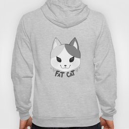 Fat Cat face - Gray Hoody