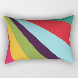 Bright Rays of Light - Circus Tent - Pride Beams - 57 Montgomery Ave Rectangular Pillow