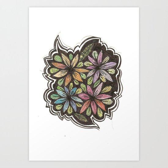 Floral Collage Art Print