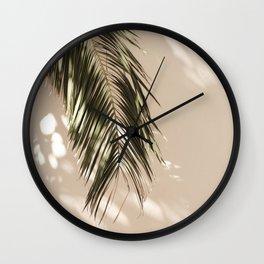 tropical palm leaves vi Wall Clock