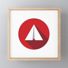 Paper Plane Framed Mini Art Print