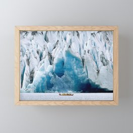 Ride to the Alaskan Glacier Framed Mini Art Print