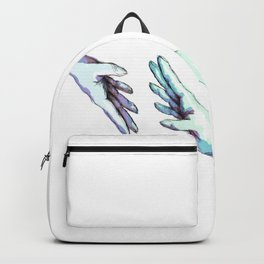 she would touch you with her absent hands Backpack