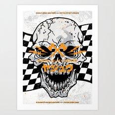 Death Valley Racers (Black Orange) Art Print