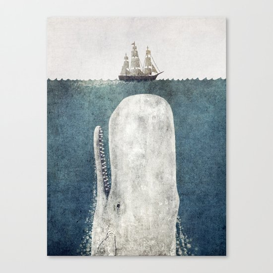 The Whale - vintage  Canvas Print