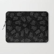 Squids (Grey on Black) Laptop Sleeve