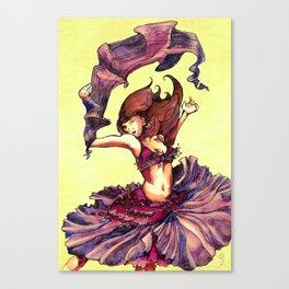 Magenta Dancer Canvas Print
