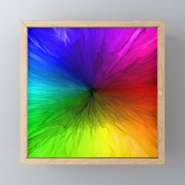 Rainbow Vortex Framed Mini Art Print