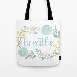 Breathe Flower Art Tote Bag
