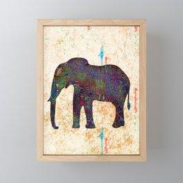 Tribal Elephant Framed Mini Art Print