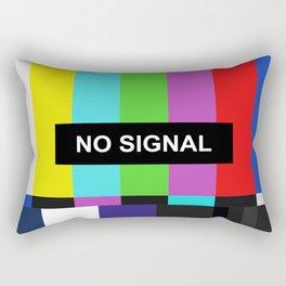 No Signal TV screen Rectangular Pillow