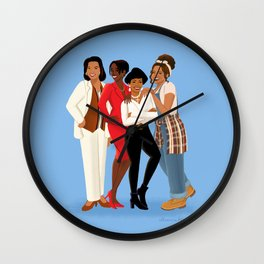 Living Single / Khadijah, Max, Regine & Synclaire Wall Clock