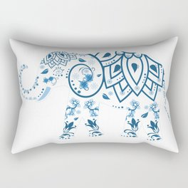 Floral Elephant Rectangular Pillow