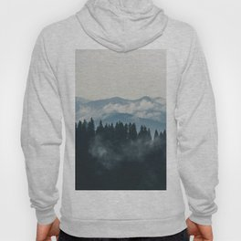Forest mountains fogs & clouds Hoody