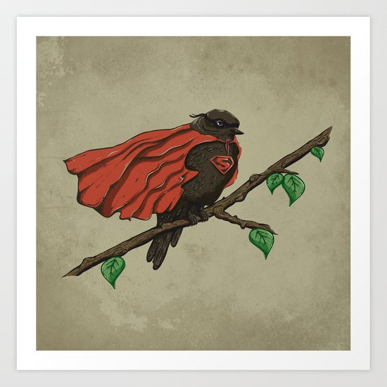 Super Bird Art Print
